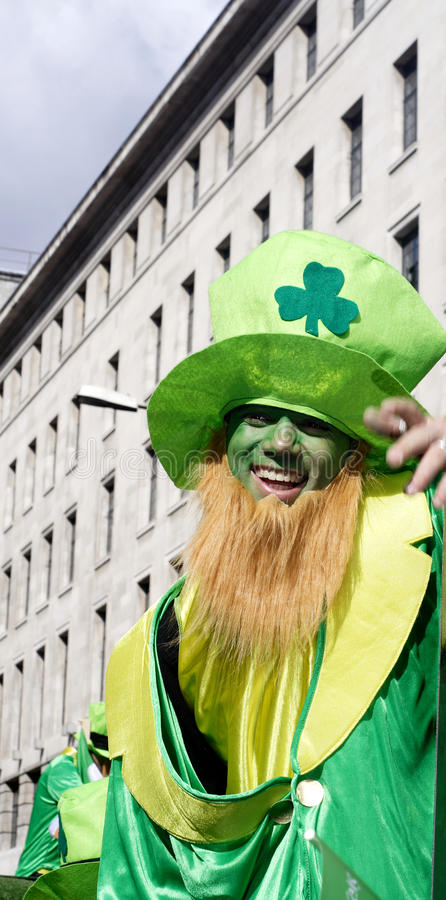 Free St Patrick Day Leprechaun With Hat London Stock Photography - 13424832