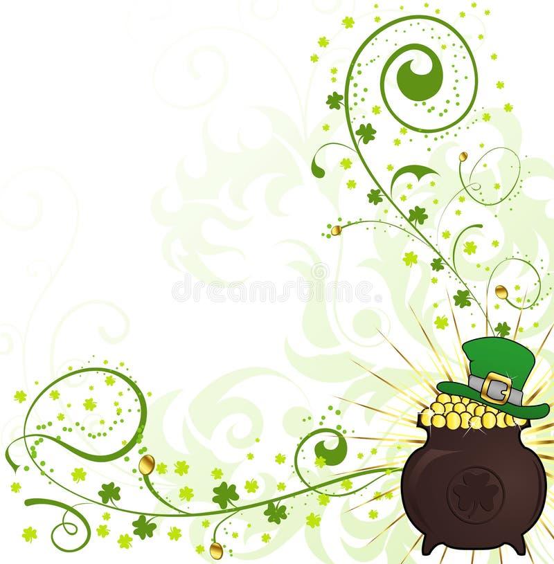 St. Patrick de Achtergrond van de Dag stock illustratie