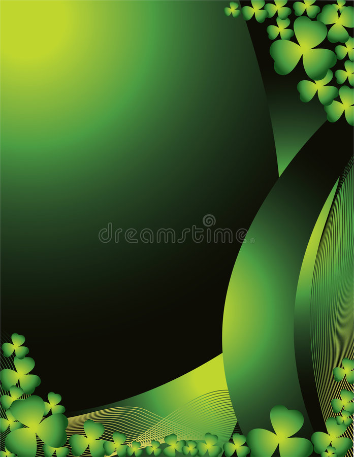 St. Patrick de Achtergrond van de Dag royalty-vrije illustratie