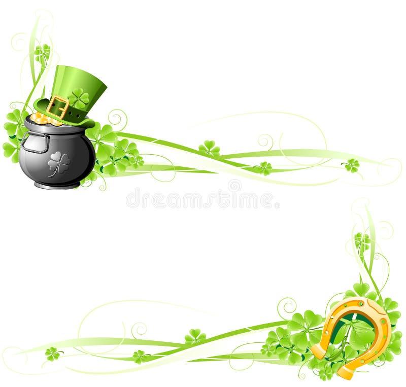 St. Patrick de banners van de Dag royalty-vrije illustratie