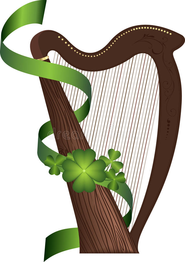 St. Patrick de harp van de Dag royalty-vrije illustratie