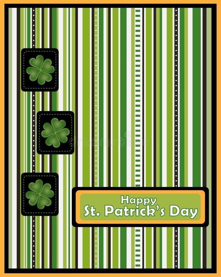 St Patrick de kaart van de daggroet - vector stock illustratie