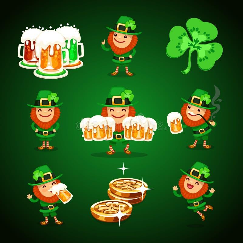 St.Patrick de reeks van de Dag stock illustratie