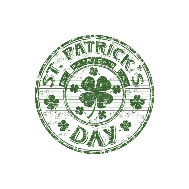 St. Patrick de rubberzegel van de Dag stock illustratie