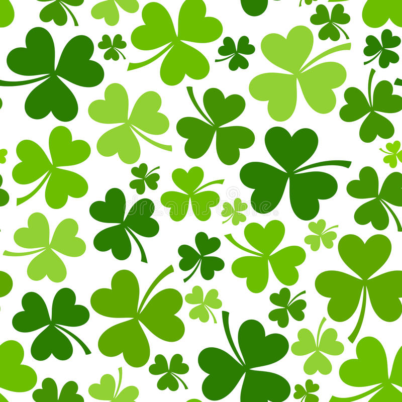 St. Patrick dnia bezszwowy tło z shamrock.