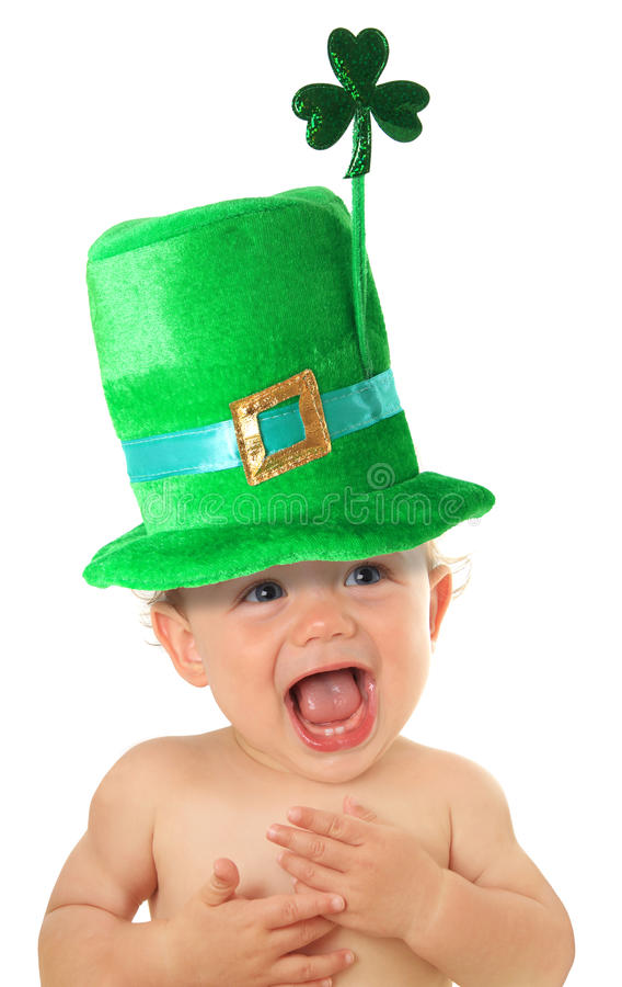 St Patrick dnia dziecko obrazy stock