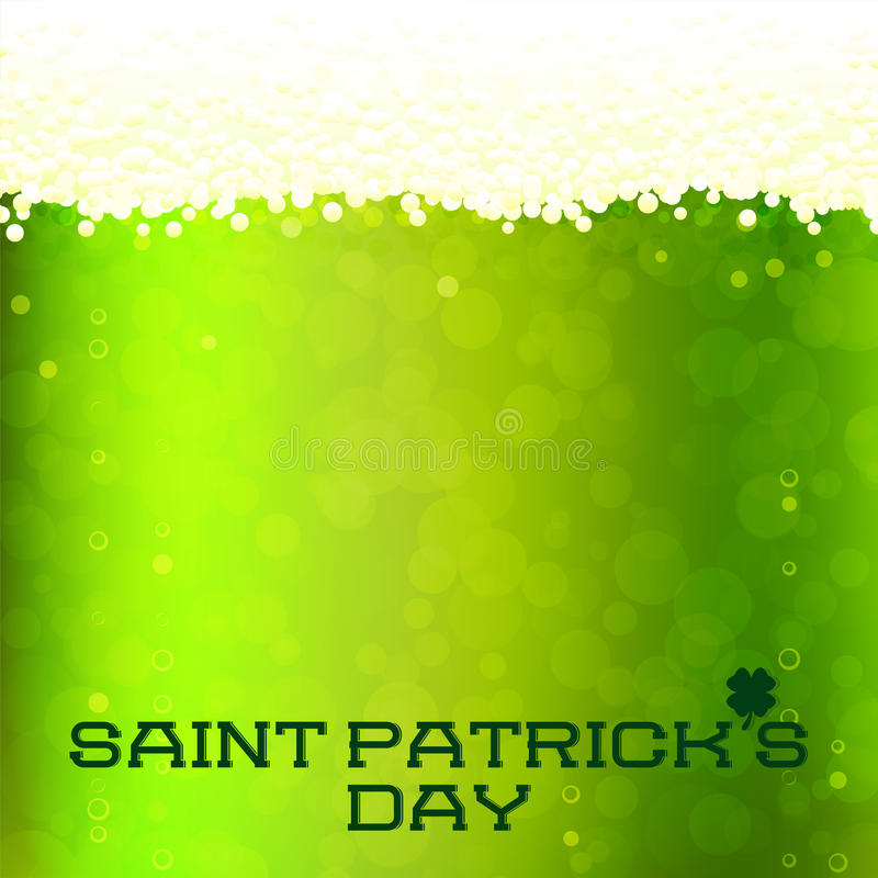 St Patrick dnia karta ilustracja wektor