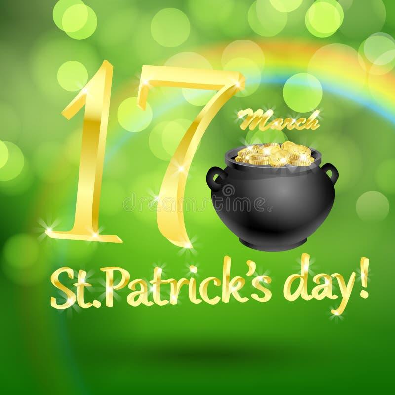 St. Patrick dnia karta ilustracja wektor