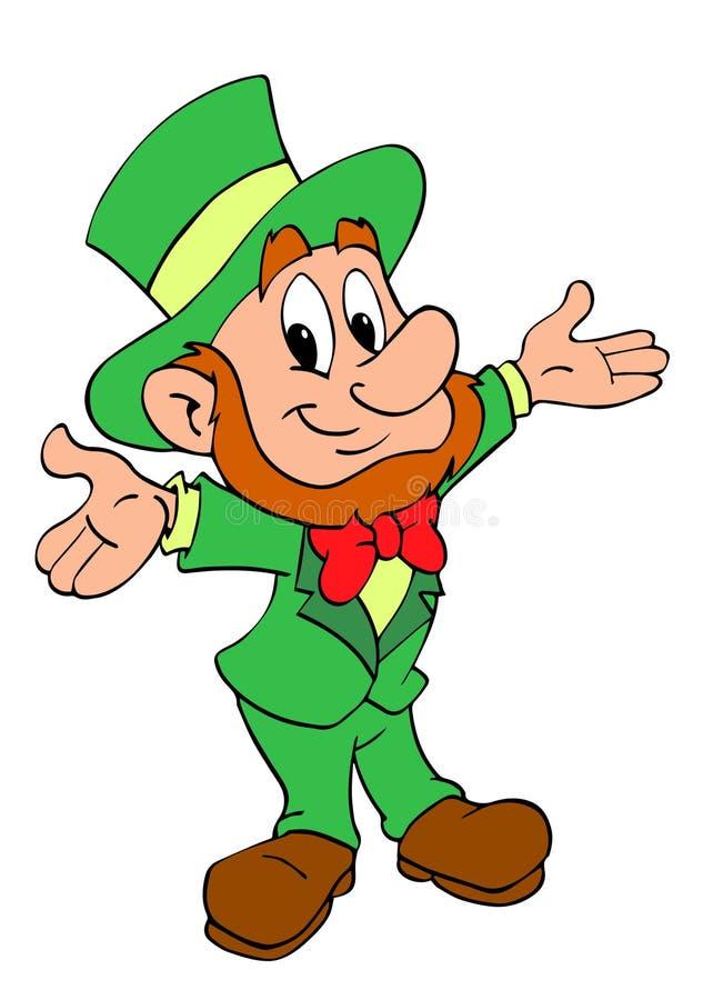 St. Patrick dnia Leprechaun royalty ilustracja