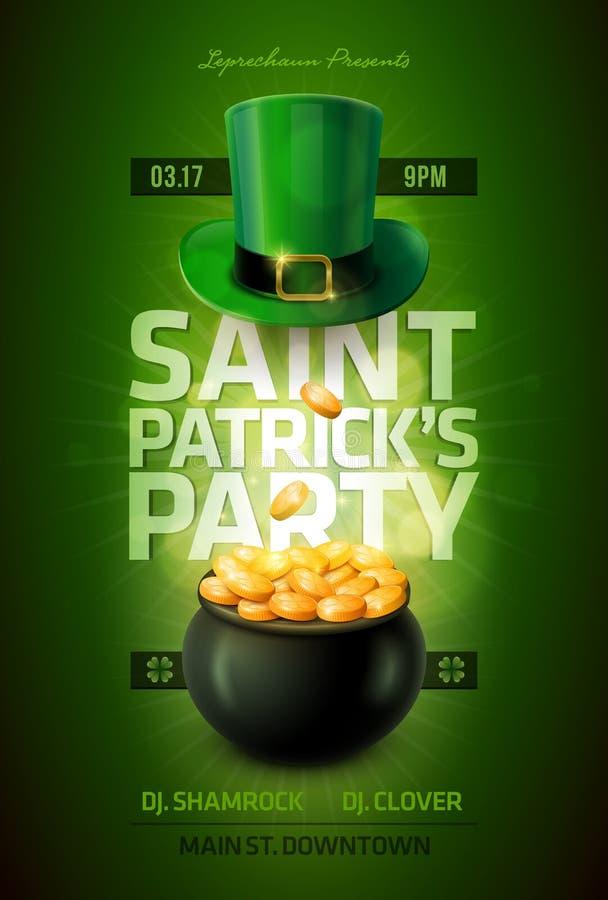St. Patrick dnia plakat ilustracja wektor