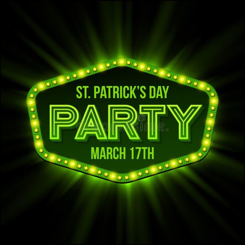 St Patrick dnia plakat również zwrócić corel ilustracji wektora ilustracja wektor
