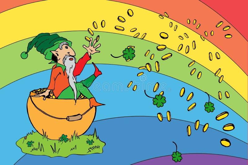 St Patrick dnia powitanie ilustracja wektor