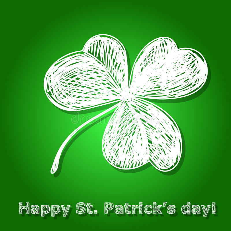 St Patrick dzień karta royalty ilustracja