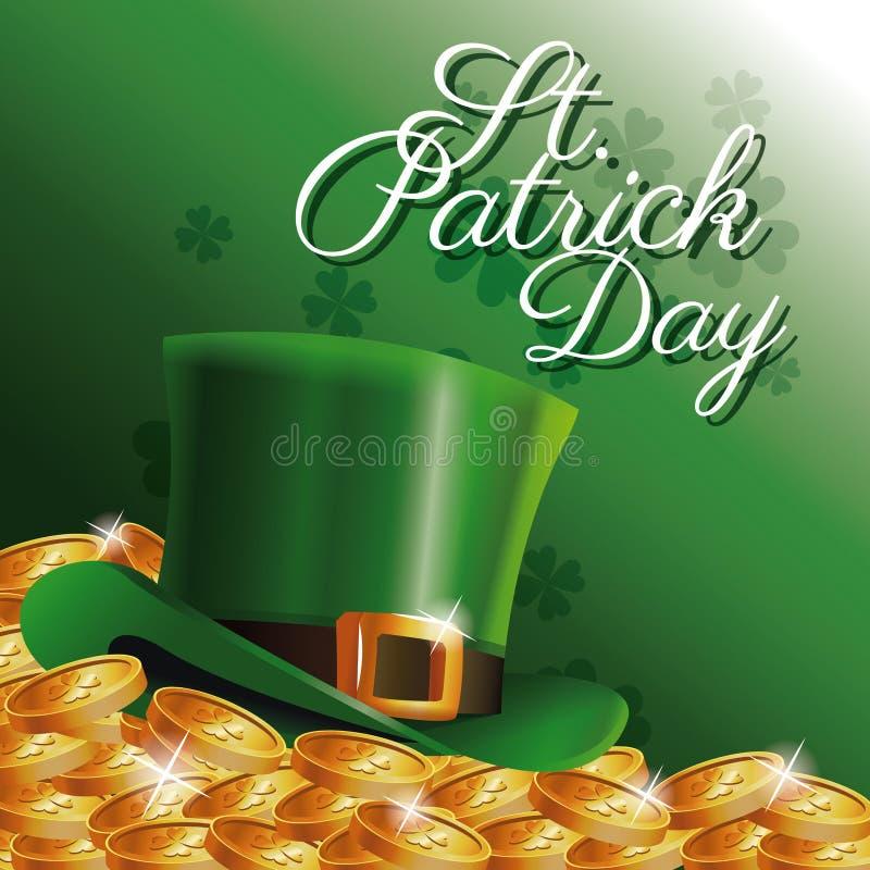 St Patrick dzień karta ilustracji