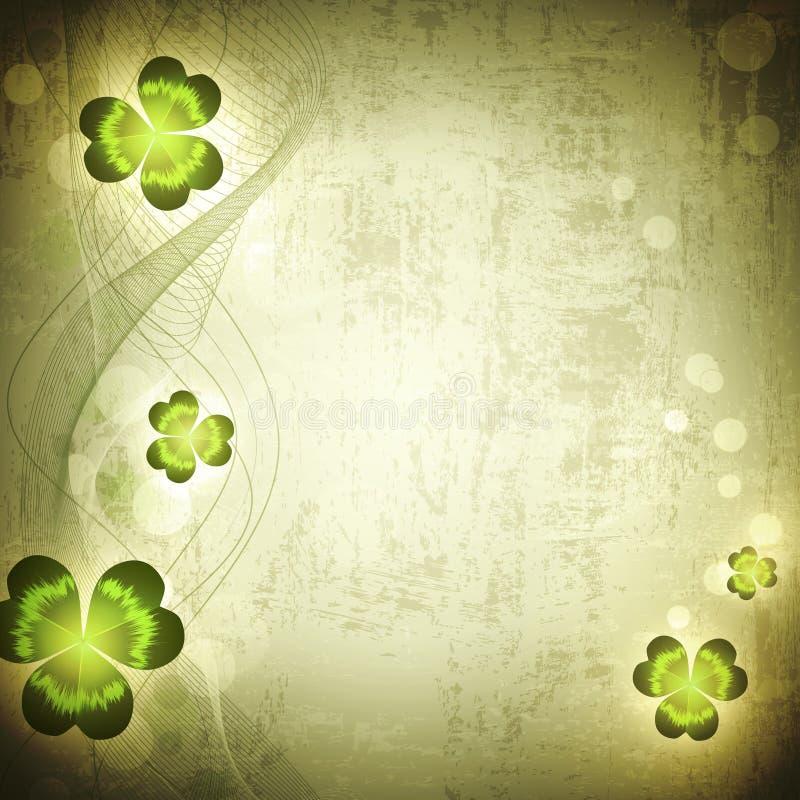 St.Patrick Feiertag Weinlese grunge Hintergrund stock abbildung