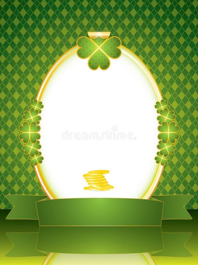 St. Patrick Frame royalty free illustration