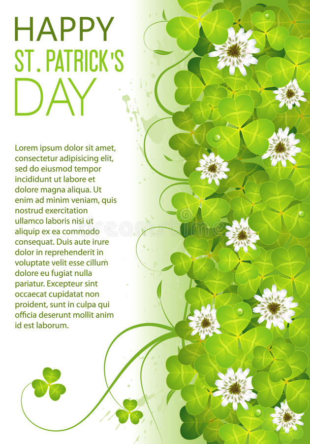 St. Patrick het Frame van de Dag royalty-vrije illustratie