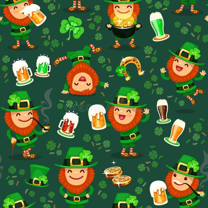 St.Patrick het patroon van de Dag royalty-vrije illustratie