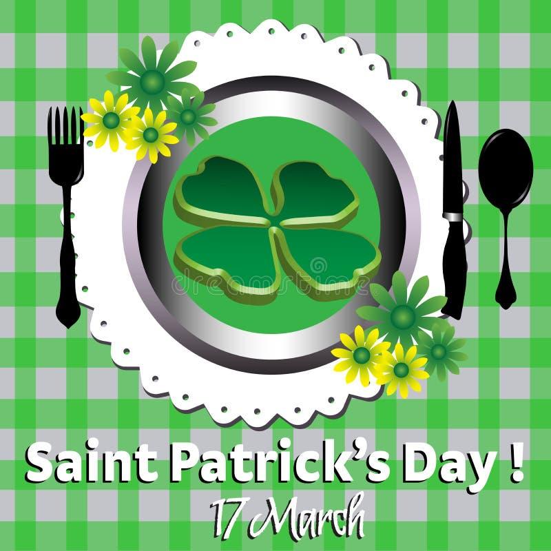 St Patrick mål stock illustrationer