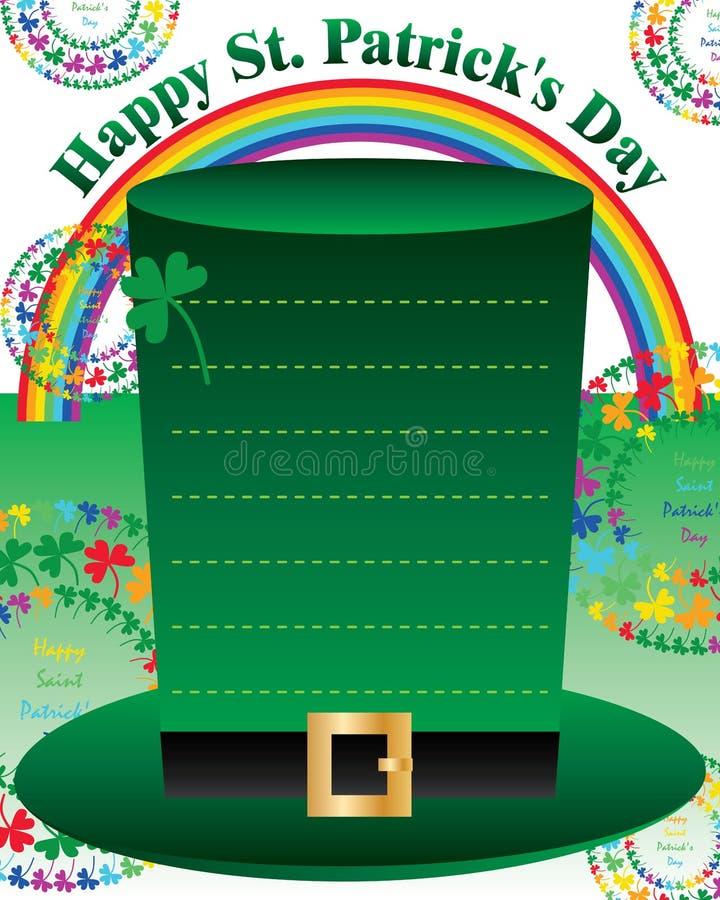 St Patrick ' mall för inbjudan för regnbåge för cirkel för s-dagmandala stock illustrationer