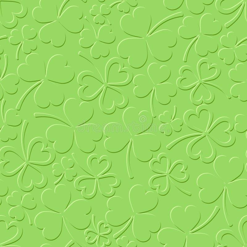 St Patrick nahtloses Muster Tagesdes grüns mit Shamrock Auch im corel abgehobenen Betrag vektor abbildung