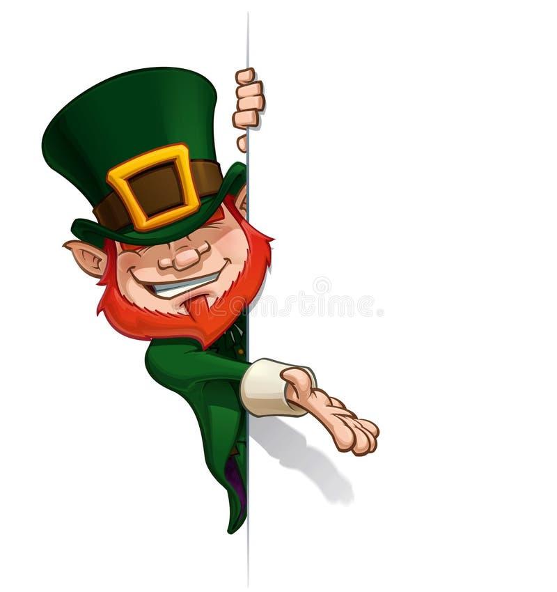 St Patrick Presenting une bannière illustration stock