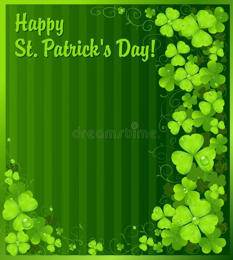st patrick s зеленого цвета дня клевера предпосылки иллюстрация вектора