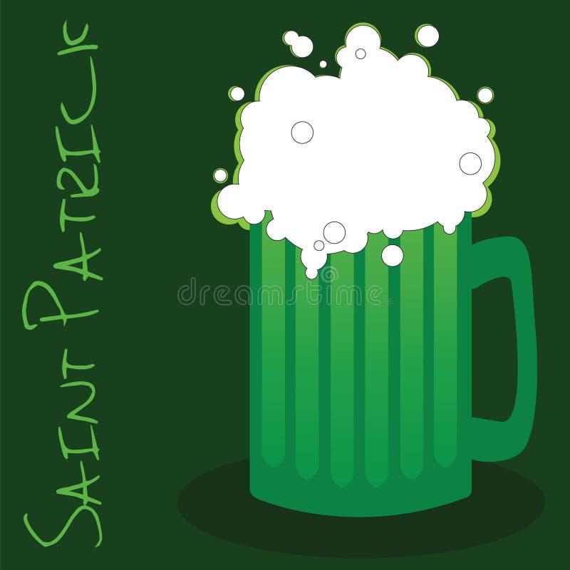 st patrick s зеленого цвета дня пива иллюстрация штока