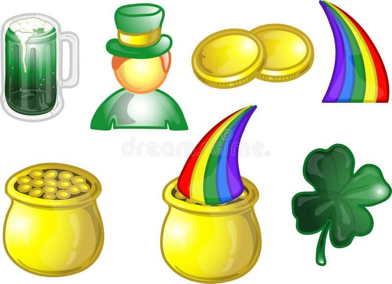 st patrick s иконы дня больной установленный бесплатная иллюстрация