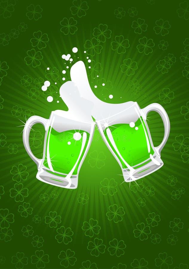St. patrick's beer vector illustration