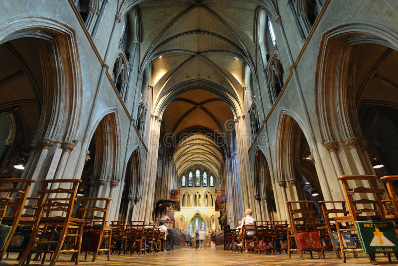St. Patrick's Cathedral in Dublin, Ireland stock images
