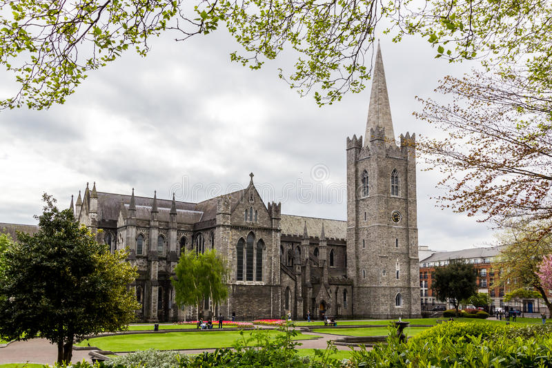 St. Patrick`s Cathedral, dublin, Ireland stock photo