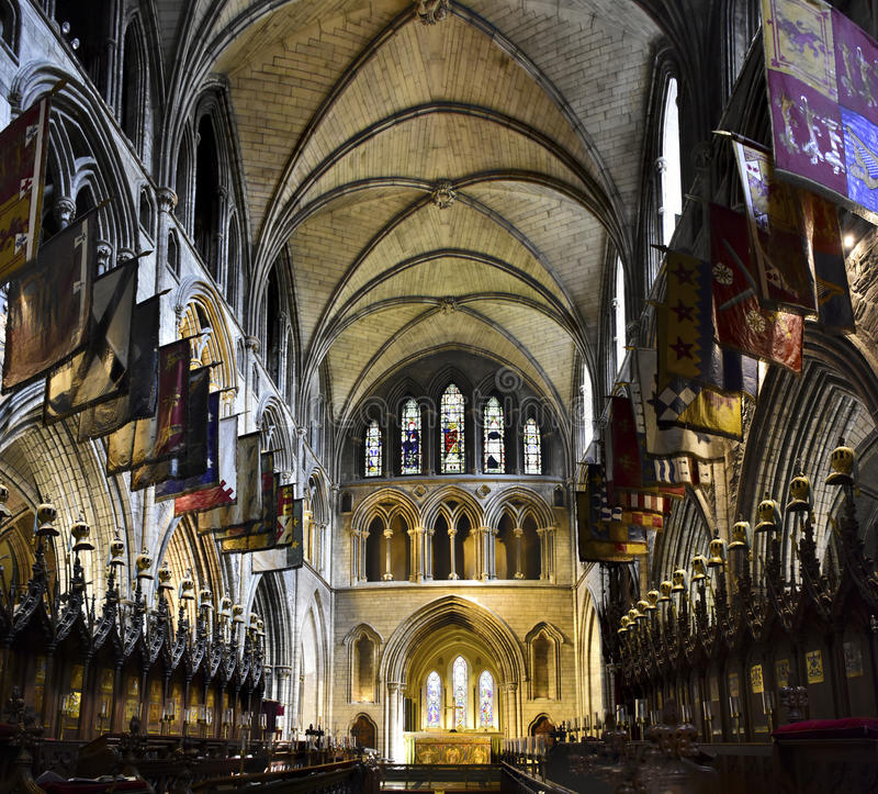 St. Patrick`s Cathedral, Dublin Ireland. Interior of St. Patrick`s Cathedral, Dublin Ireland stock photography