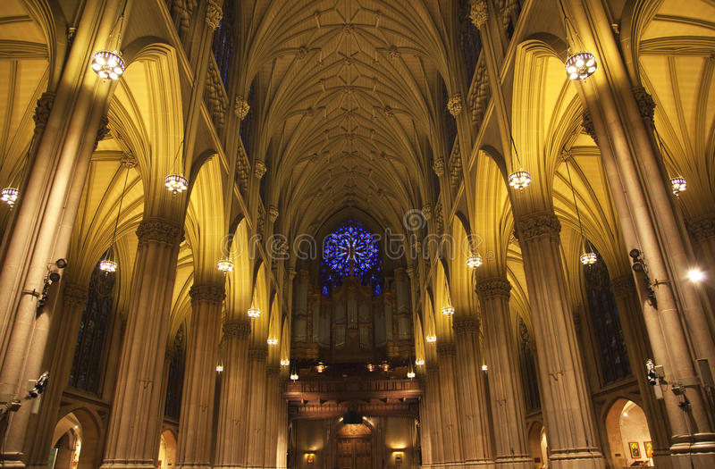 Download St. Patrick's Cathedral Insides New York City Stock Image - Image: 9792309