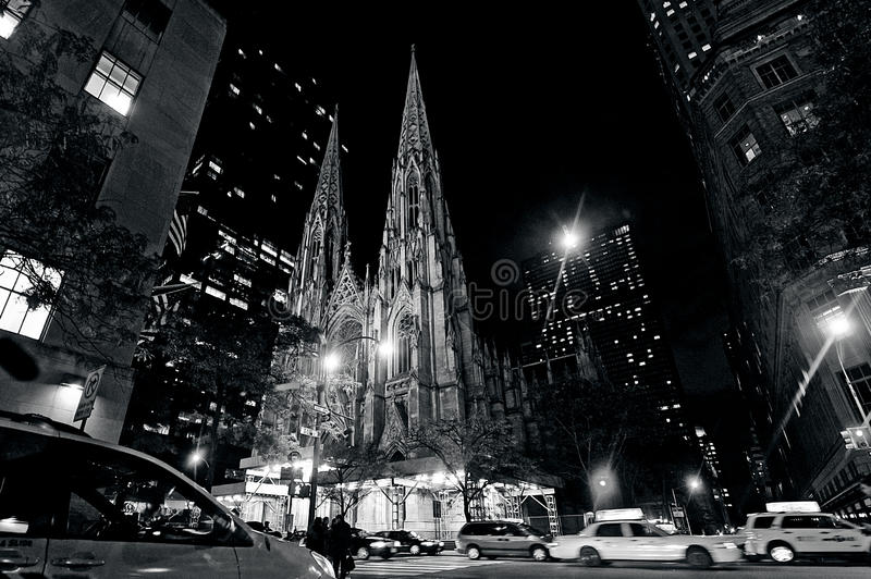 St. Patrick's Cathedral in Manhattan New York City royalty free stock photos