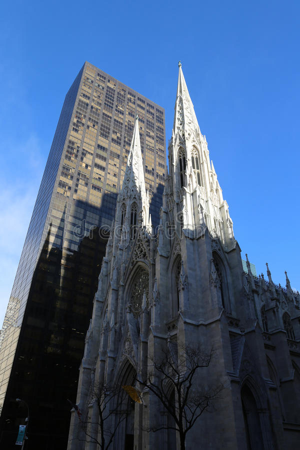 St. Patrick`s Cathedral in New York City stock photography
