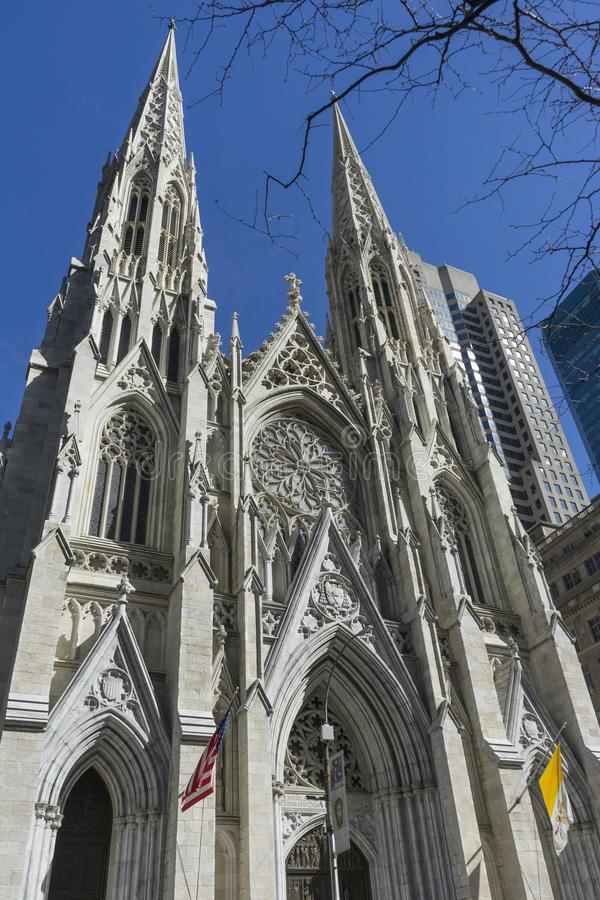 St. Patrick`s Cathedral in Manhattan, NYC. St. Patrick`s Cathedral on 5th avenue in Manhattan, NYC royalty free stock photography