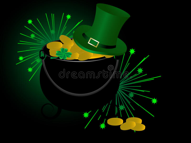 Download St.Patrick's cauldron stock vector. Image of abstract - 23528587