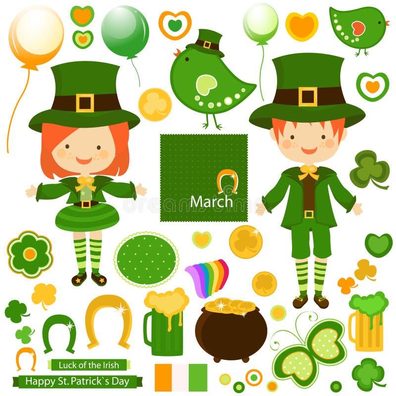 St Patrick ` s dag royalty-vrije illustratie