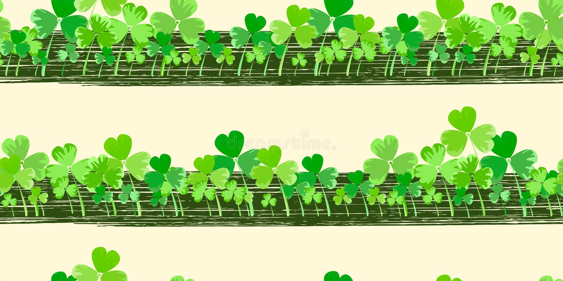 St Patrick ` s dag vector horizontale achtergrond royalty-vrije illustratie