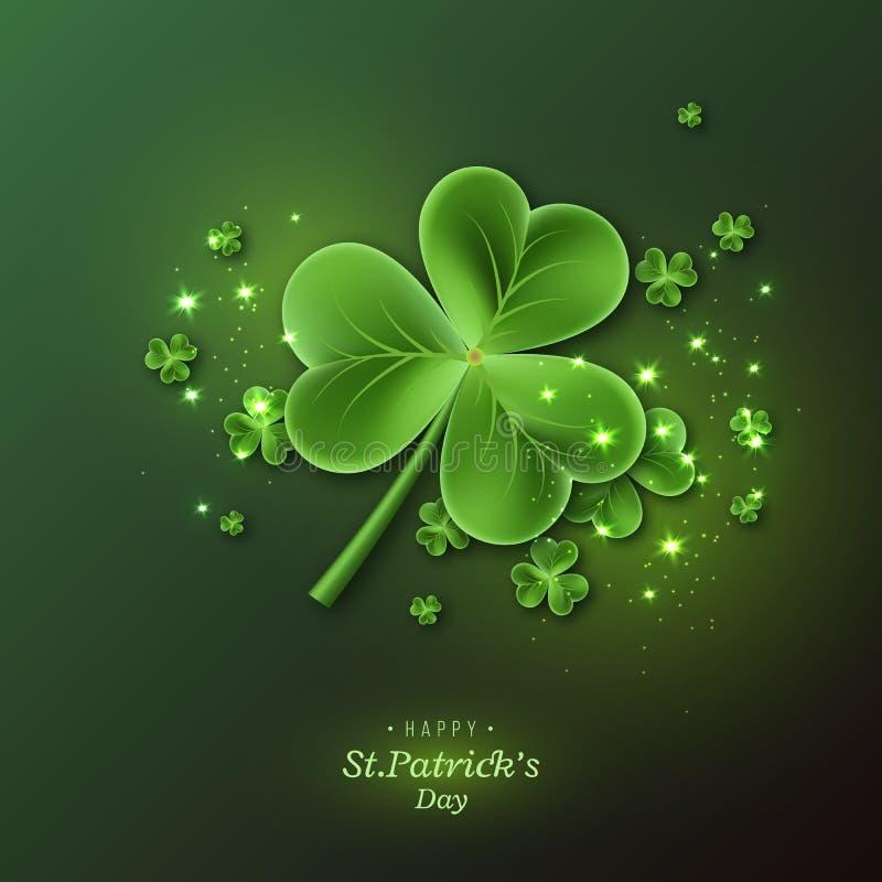 St Patrick& x27; s Dagachtergrond vector illustratie