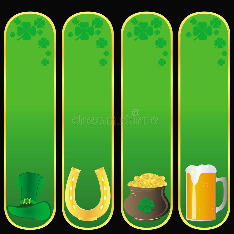 St Patrick `s dagbanners stock illustratie