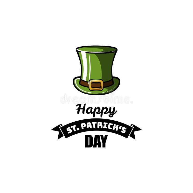 St Patrick s Dagelement Groene Kabouterhoed Vector illustratie vector illustratie
