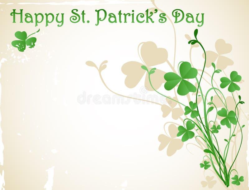 St Patrick `s dagkaart vector illustratie