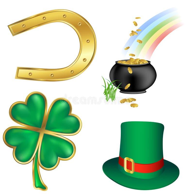 St Patrick `s dagpictogrammen royalty-vrije illustratie