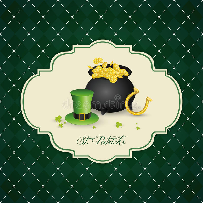 St. Patrick's Day. Abstract St. Patrick's day background with special objects royalty free illustration