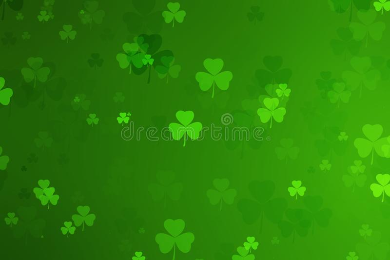 st. patrick`s day abstract green background for design royalty free illustration