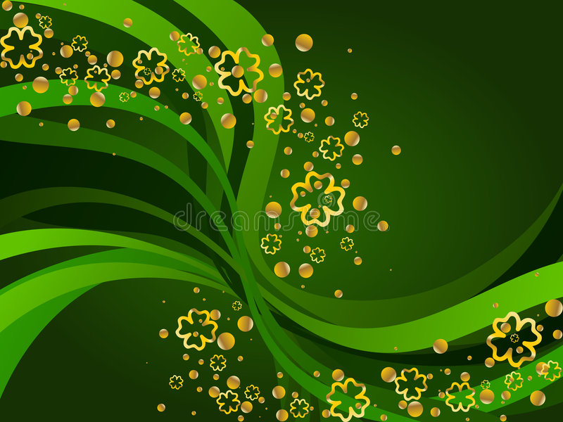 St Patrick's Day background stock illustration