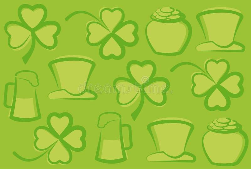 St. Patrick's Day background stock illustration