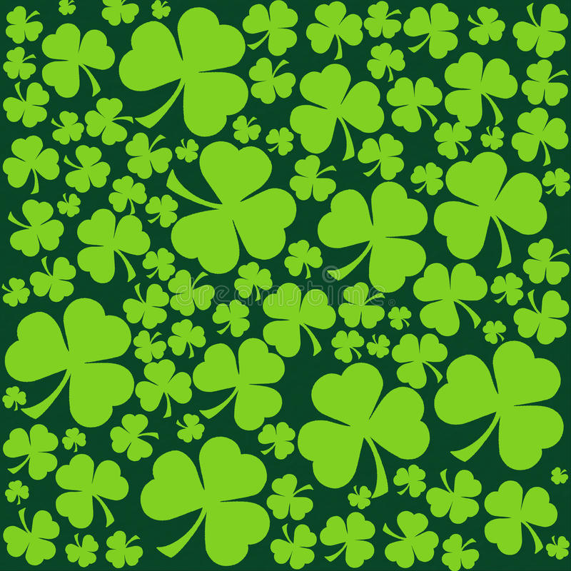 St. Patrick's day background in green colors vector illustration